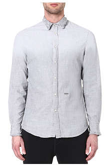 D SQUARED Wire-collar chambray shirt