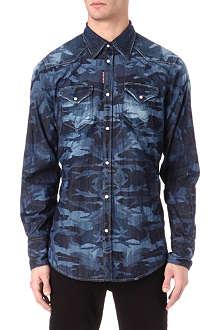 D SQUARED Denim western shirt