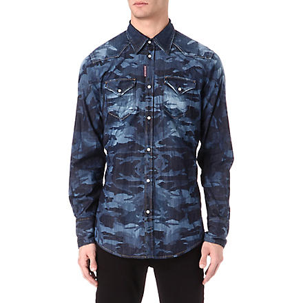 D SQUARED Denim western shirt (Blue