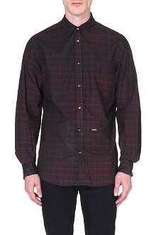 D SQUARED Checked oil-effect shirt