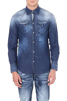 D SQUARED Painterly western denim shirt