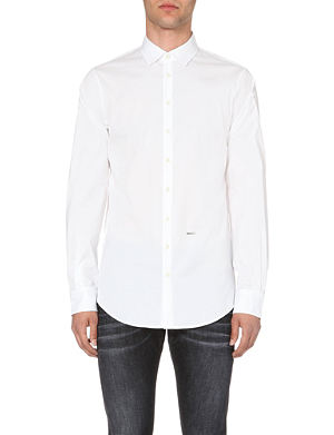 D SQUARED Branded slim-fit cotton shirt