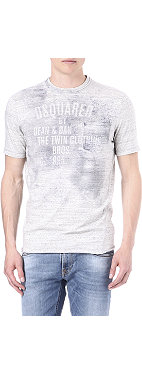 D SQUARED Printed faded-effect t-shirt