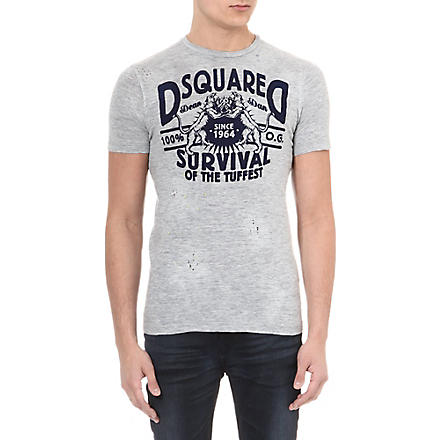 D SQUARED Survival print t-shirt (Grey