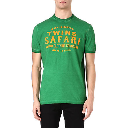 D SQUARED Twins Safari t-shirt (Green