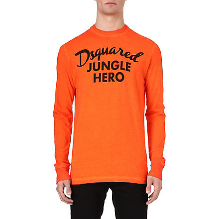 D SQUARED Jungle Hero long-sleeved top (Orange