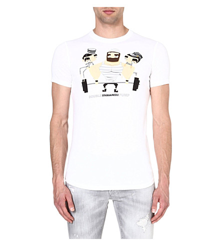 D SQUARED Jail Weight t-shirt (White
