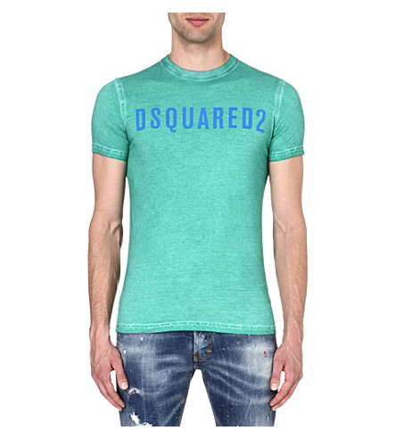 D SQUARED Logo cotton t-shirt (Green