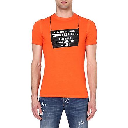 D SQUARED Detention Centre t-shirt (Orange