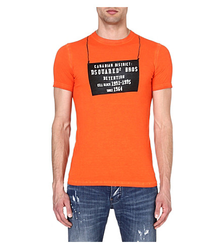 D SQUARED Detention Centre t-shirt (Orange