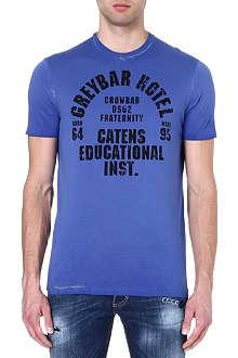 D SQUARED Varsity print t-shirt
