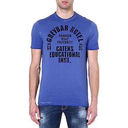 D SQUARED Varsity print t-shirt (Blue