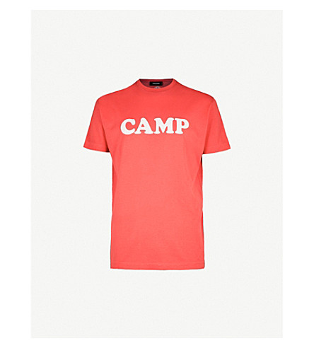 DSQUARED2 Camp printed cotton-jersey T-shirt (Red