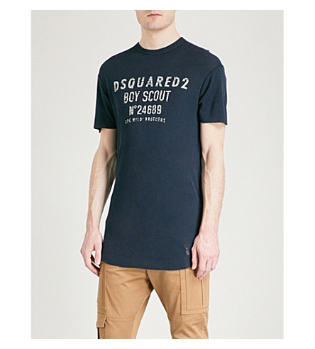 DSQUARED2 Boy Scout wool T-shirt (Blue
