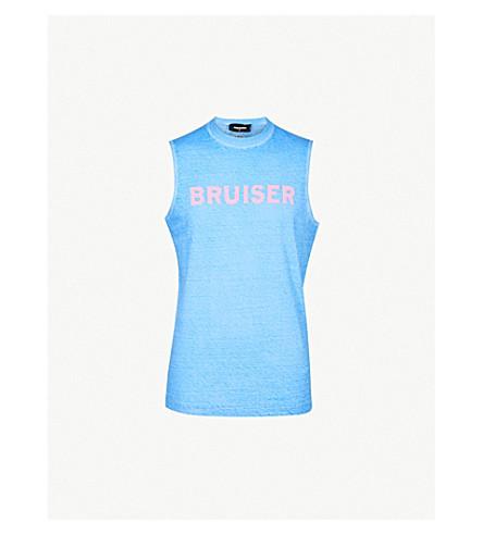 DSQUARED2 Bruiser cotton-jersey vest (Light+blue