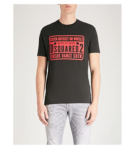 Logo Logo print cotton T T shirt print Black shirt DSQUARED2 DSQUARED2 cotton 5AOYO