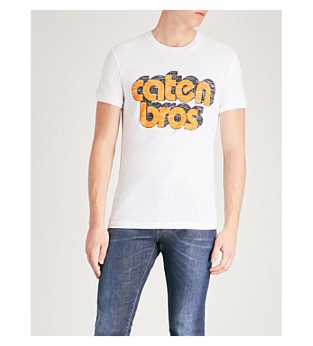 DSQUARED2 Slogan-print cotton T-shirt (White
