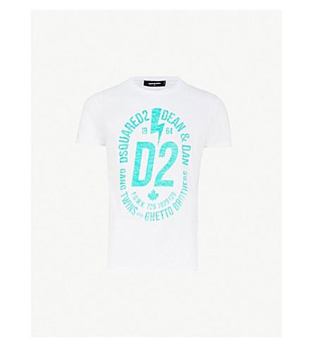 DSQUARED2 Logo-print cotton T-shirt (White