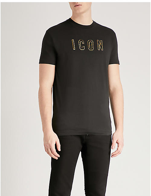 DSQUARED2 Icon-print cotton-jersey T-shirt