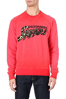 D SQUARED Safari cotton sweatshirt