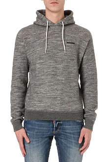 D SQUARED Wool-blend fleece hoody