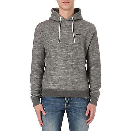 D SQUARED Wool-blend fleece hoody (Grey