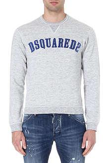 D SQUARED Logo-appliqué sweatshirt