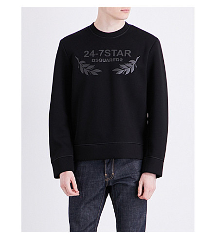 DSQUARED2 24-7 jersey sweatshirt (Black