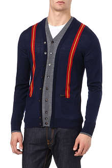 D SQUARED Double-knit cardigan