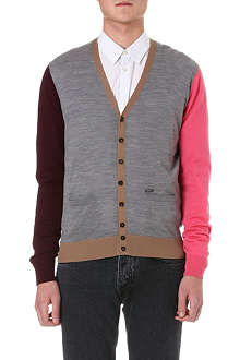 D SQUARED Multicoloured wool cardigan