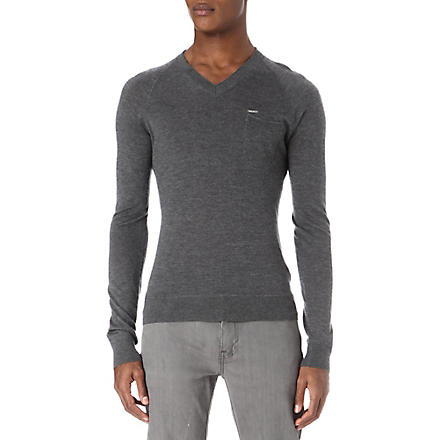 D SQUARED Cashmere v-neck jumper (Grey