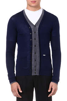D SQUARED Contrast colour cardigan