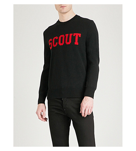 DSQUARED2 Scout wool jumper (Black/red