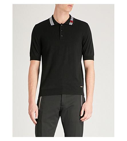 DSQUARED2 DSQUARED2 print polo Black wool Logo shirt print DSQUARED2 shirt Logo polo Black wool UrxqBaZ0r
