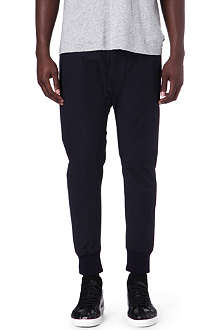 D SQUARED Leather-trimmed jogging bottoms