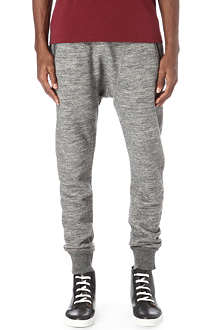 D SQUARED Fleece drop-crotch jogging bottoms