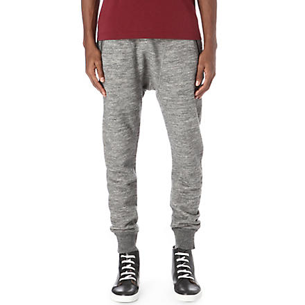 D SQUARED Fleece drop-crotch jogging bottoms (Grey