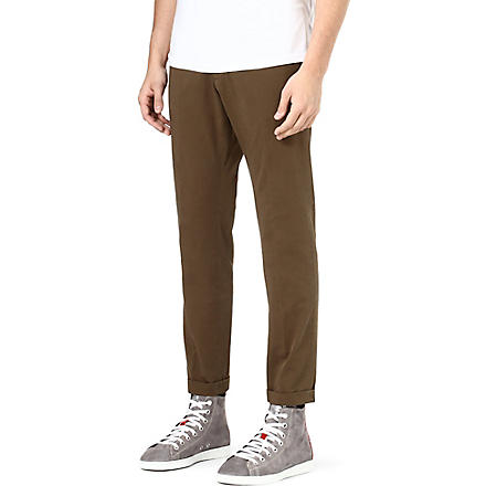 D SQUARED Slim-fit tapered chinos (Khaki