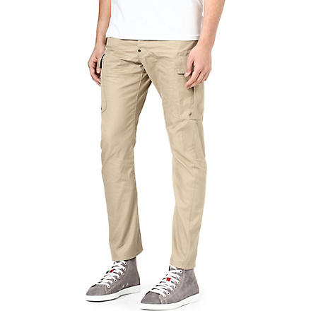 D SQUARED Slim-fit tapered chinos (Stone