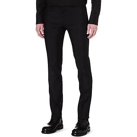 D SQUARED Slim-fit wool and silk-blend trousers (Black