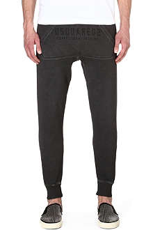 D SQUARED Drop-crotch tapered jogging bottoms