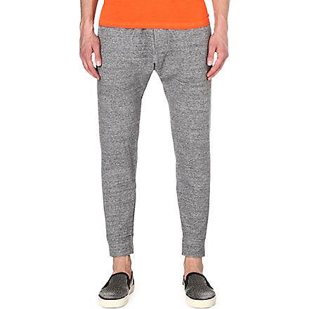 D SQUARED Cropped drop-crotch jogging bottoms (Grey
