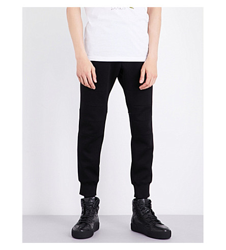 DSQUARED2 Relaxed-fit tapered neoprene track pants (Black