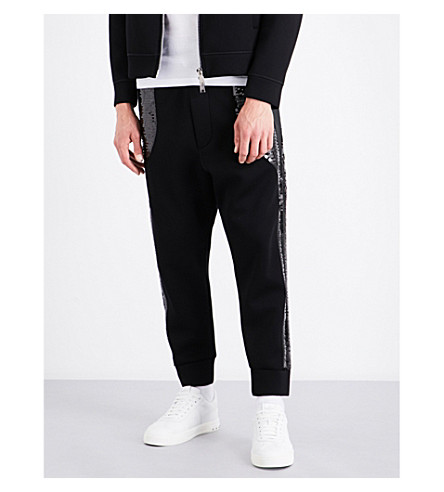 DSQUARED2 Sequin-embellished jersey jogging bottoms (Black