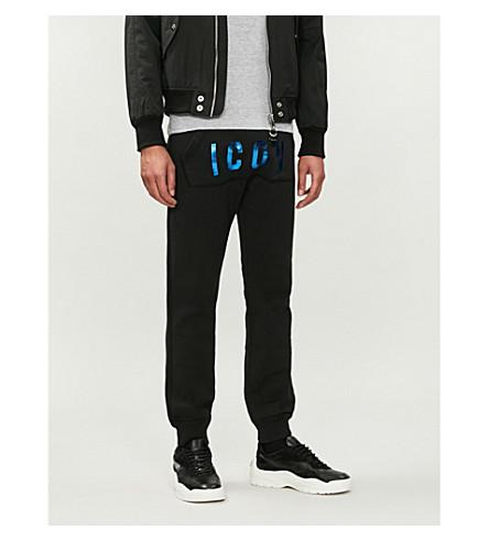 DSQUARED2 Slogan-print cotton-sersey jogging bottoms (Black