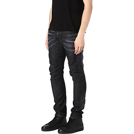 D SQUARED Slim-fit tapered jeans (Black