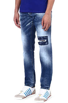 D SQUARED Window patch skinny jeans