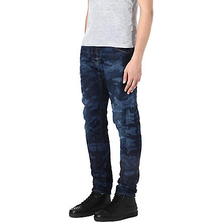 D SQUARED Kenny camouflage slim-fit tapered jeans (Blue