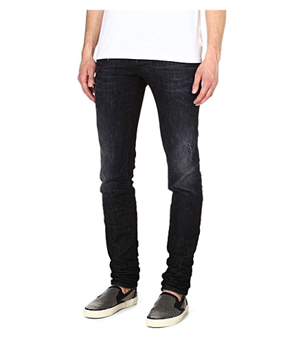 D SQUARED Chain slim-fit straight jeans (Black