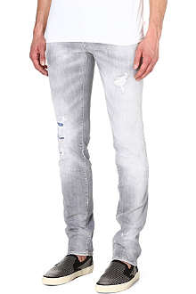 D SQUARED Distressed slim-fit tapered jeans
